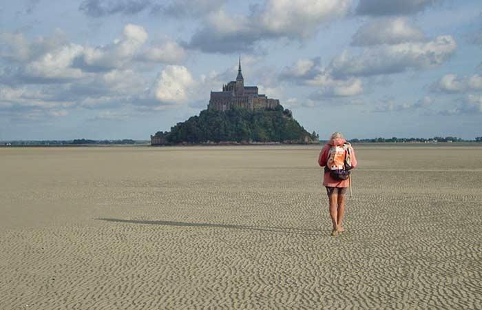 Wattwandern in der Bucht Mont-Saint-Michel