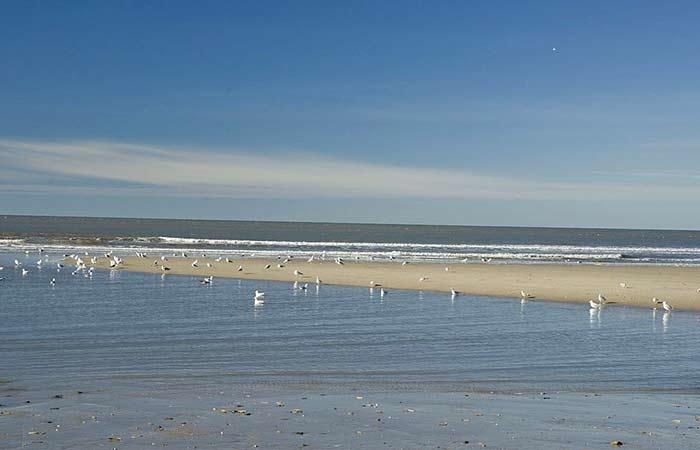 Der Strand auf der Insel Texel